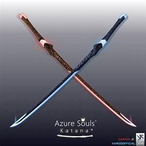 Azure Souls Katana [OFFICIAL] by TheOfficialC7 on DeviantArt