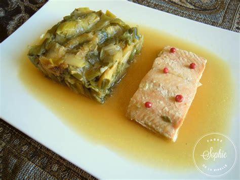 cuisiner pave de saumon fondue de poireaux au miel et pavé de saumon la