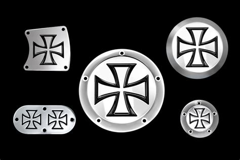 Maltese Cross Covers, Billet Covers, Usmc, Derby Covers