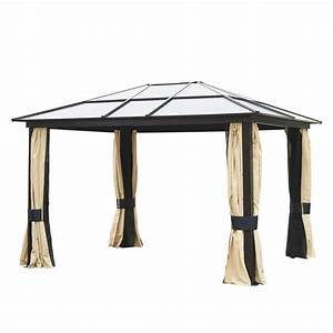 Outsunny 12'x10' Outdoor Gazebo Canopy w/ Mesh Curtains