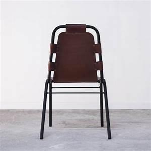 Chaise Industrielle Cuir : chaise cuir vintage industriel marron effet cuir vieilli ~ Teatrodelosmanantiales.com Idées de Décoration