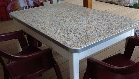 relooker table de cuisine kit complet béton ciré pour relooker sa table basse