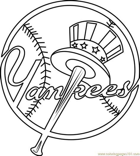 york yankees logo coloring page  mlb coloring