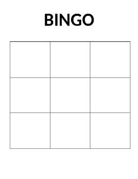 blank bingo sheet by juhelle boulet teachers pay teachers