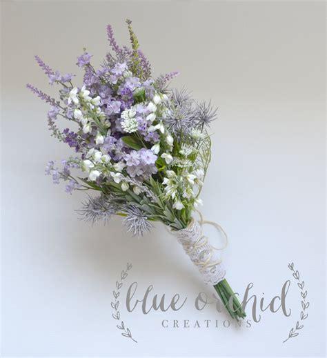 purple wildflower bouquet rustic bouquet lavender