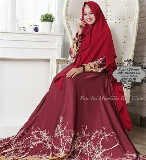 baju muslim maxmara ainun syari gamis modern butik jingga