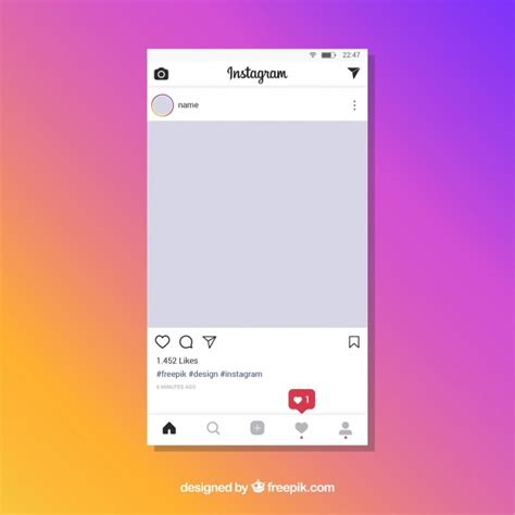 instagram post template  notifications vector
