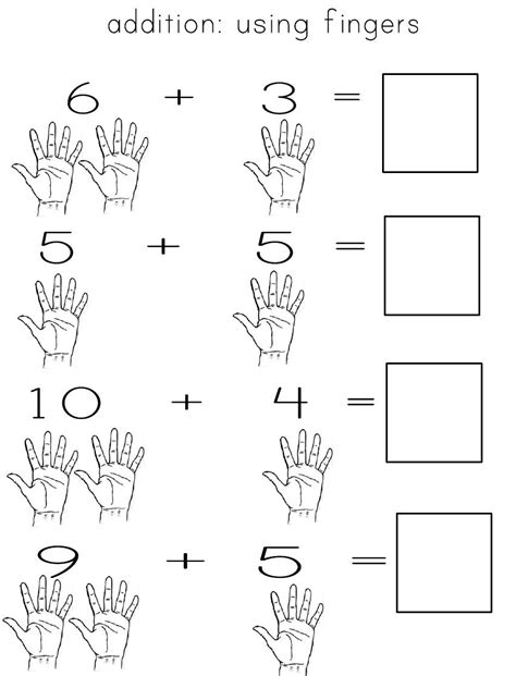 addition  fingers  images math addition