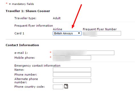 flyers numbers how to change a frequent flyer number on a ba booking