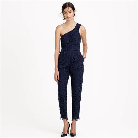 jcrew jumpsuit j crew collection floral lace jumpsuit in blue lyst