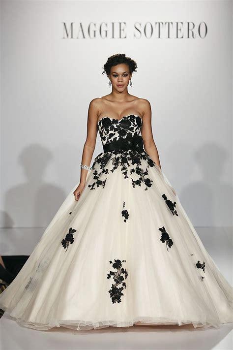 beautiful  bold black wedding dresses chic