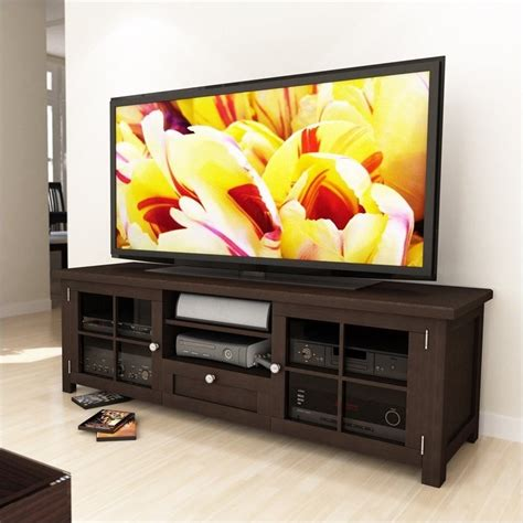 shaker cabinet kitchen 63 quot tv stand in stained espresso b 098 bat 2167