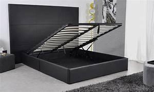 Verin Lit Coffre : lit avec coffre groupon shopping ~ Teatrodelosmanantiales.com Idées de Décoration