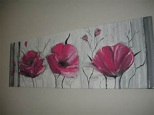 Tableau Rose Et Gris : tableau contemporain rose fushia noir et gris et alu peintures par brigitte schutten ~ Teatrodelosmanantiales.com Idées de Décoration