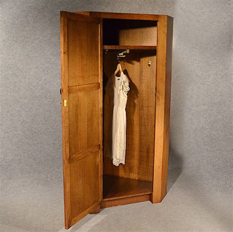 Armoire Cupboard by Antique Oak Corner Wardrobe Armoire 6 Cupboard Antiques