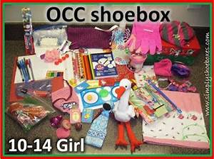 Simply Shoe Boxes OCC shoebox for 10 14 year old girl