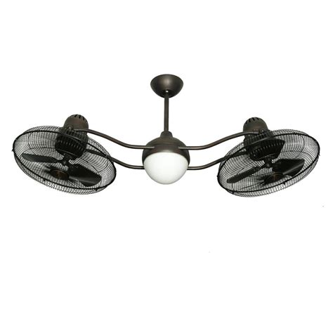 dual motor ceiling fan with light troposair duet 15 in rotating dual motor caged indoor