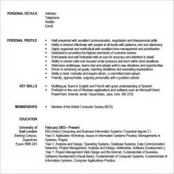 curriculum vitae format template download sle modern cv template 7 download free documents in pdf