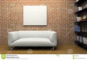 Mur En Brique Intérieur : int rieur moderne avec le mur de briques illustration stock illustration du home appartement ~ Melissatoandfro.com Idées de Décoration