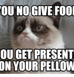 OU NO GIVE Fool OUGET PRESENT ON YOUR PELLOW | Fools Meme ...