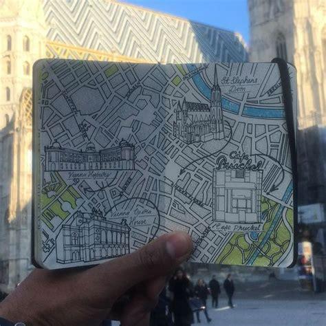 city map drawing  vienna austria mymoleskine community