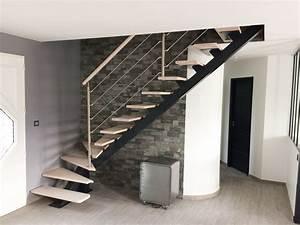 Escalier Métallique Industriel : escalier m tallique et bois style industriel escalier quart tournant en m tal et marches en ~ Melissatoandfro.com Idées de Décoration