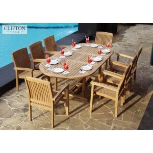 solid teak garden table chair sets