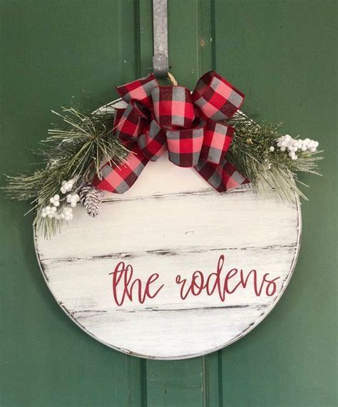 personalized christmas door hanger  christmas sign