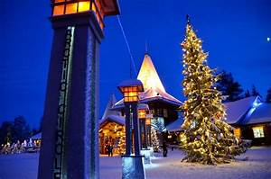 Twilight at Santa Claus Village in Rovaniemi, Finland