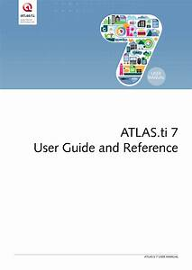 Pdf  Atlas Ti 7 5 User Guide And Reference  Updated Version