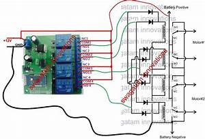 Remote Controlled Trolley Circuit Without Microcontroller