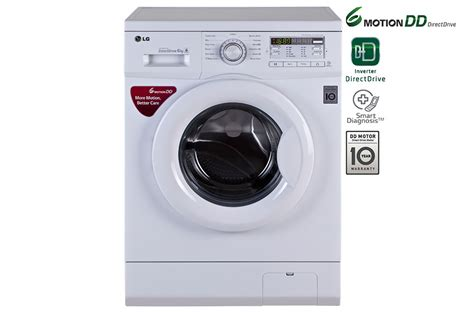 lg washing machine lg fh0b8ndl22 6 motion dd front loading washing machine