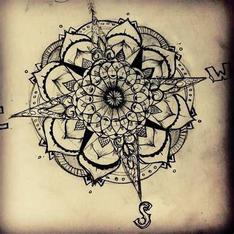 mandala flower compass tattoo design tattoos   love