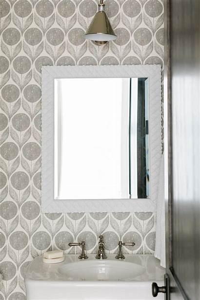 Graphic Bathroom Modern Floral Hgtv Bold Mirror