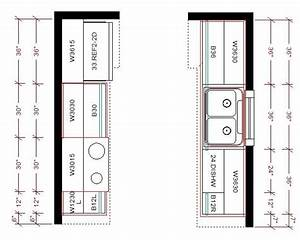 Small, Galley, Kitchen, Layout