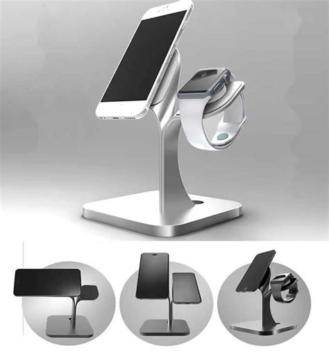 aluminum charging dock station charger holder stand