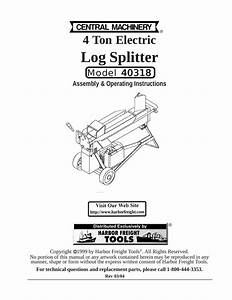 35 Log Splitter Parts Diagram