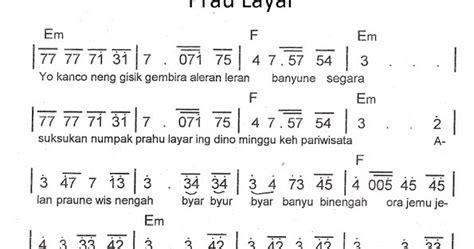 lagu pileuleuyan beserta not angka not angka pianika lagu prau layar