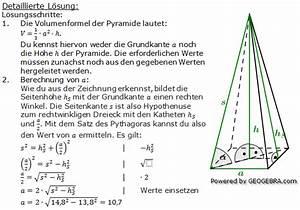 Pyramide Oberfläche Berechnen : quadratische pyramiden realschulabschluss bungsaufgaben ~ Themetempest.com Abrechnung