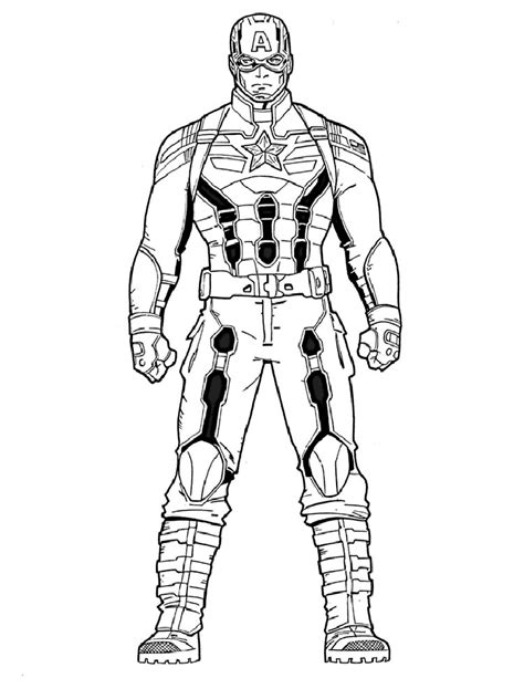 winter soldier coloring pages  printable  winter soldier coloring pages