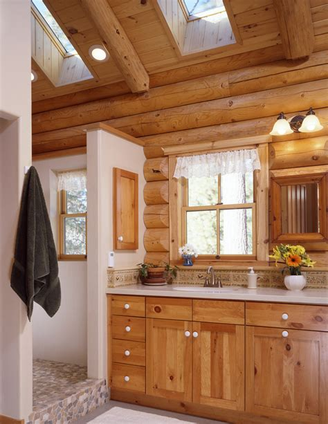 and bathroom layout log home bathrooms real log style