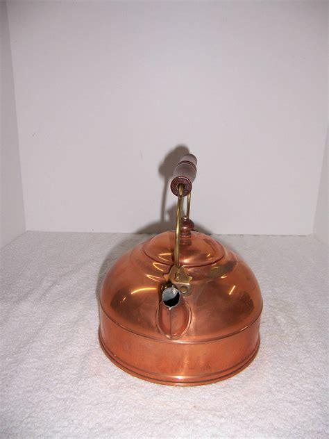 triple  resale paul revere ware copper kettle usa