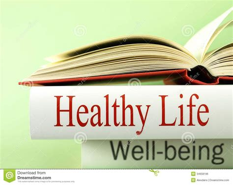 health  wellbeing books stock photo image  life