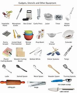 Kitchen utensils - equipment learning English