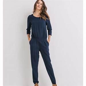 Combinaison Pantalon Femme Bleu Marine : promod combi pantalon bleu marine brandalley ~ Dallasstarsshop.com Idées de Décoration