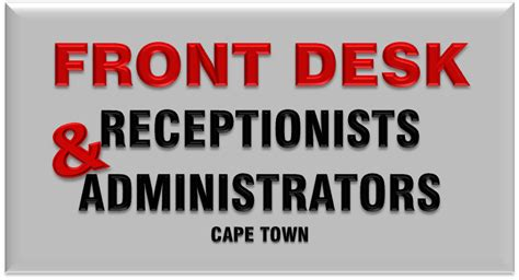 front desk job openings job search sa jobs of the week