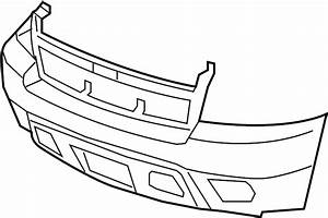 Chevrolet Tahoe Bumper Cover  Upper  Lower    W  O Off Road