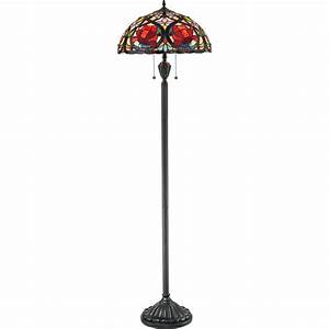 quoizel tf879f larissa 2 light tiffany floor lamp With floor lamps with tiffany shades