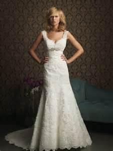 brautkleid schlicht spitze a line v neck empire waist lace wedding dress with straps belt