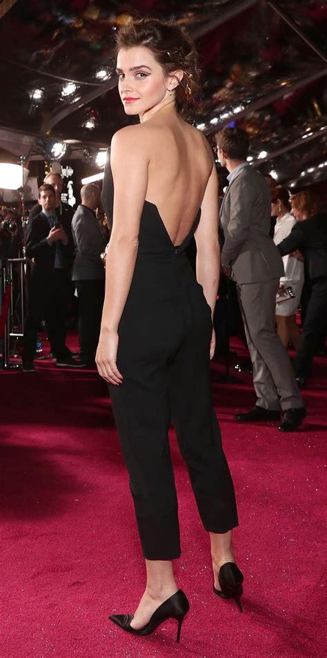 Emma Watson Wears Black Jumpsuit Beauty The Beast